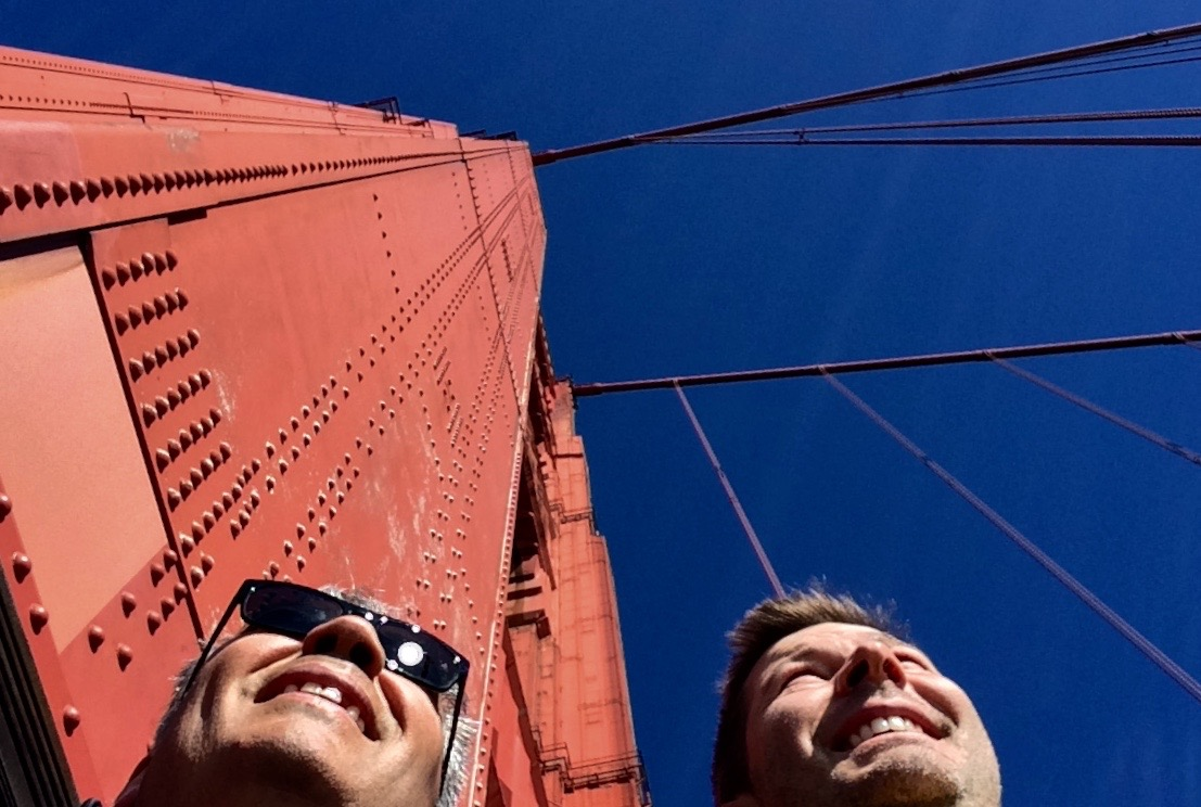 Christian and Jodok at Golden Gate