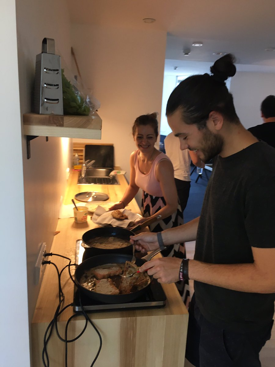 Max cooking for the Dornbirn office.