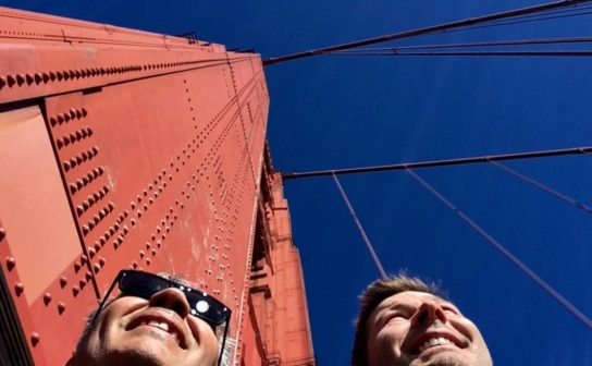 Christian and Jodok on the Golden Gate Bridge in San Francisco