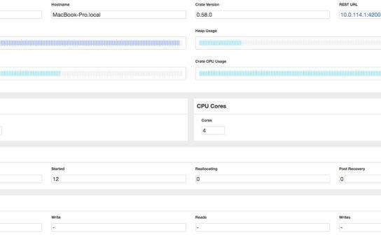 CrateDB monitors CPU, heap, and disk