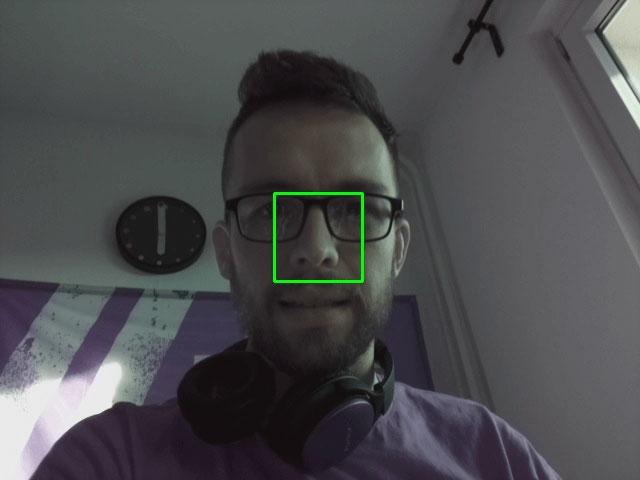 Facial recognition testing in progress