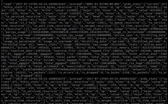 Analyzing Docker Container Performance: JSON stream