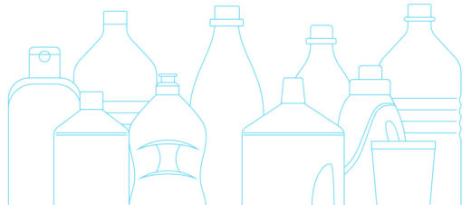 Silhouttes of bottles in different sizes