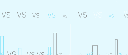 Words Vs standing for Comparison on a lightcyan background with rectangles on it