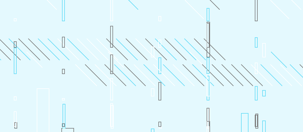 Lightcyan background with lines and rectangles in different sizes in dark grey, white and dark cyan