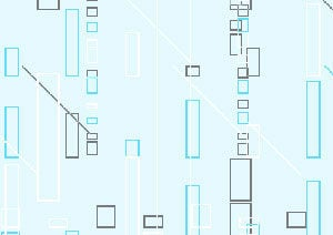 Place Holder: Rectangles and lines on a light blue background