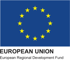 Logo of the European Regional Development Fund (ERDF)
