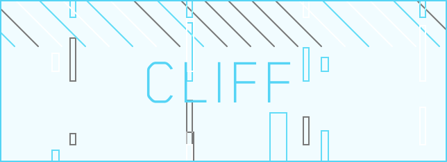 """Employee Stock Options Plan (ESOP): Word """"Cliff"""" on a light cyan background with lines and rectangles"""