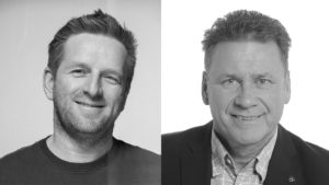 Bernd Dorn (left) returns as CTO. Uwe Weimer joins as Head of Sales EMEA.