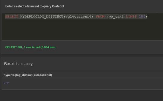 Hyperloglog query